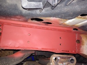 Ford Transit inner wing fabrication & welding repair