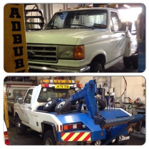F45 Pickup at AGS Garage Services