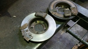 skoda brake discs and pads replacement garage