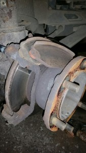 Ford Transit Garage -new brake discs and pads