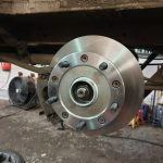 Ford transit rear brake discs repair