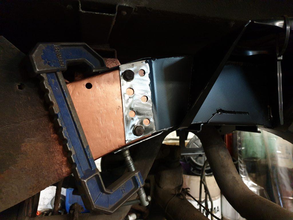 Defender rear chassis repair